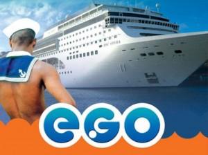 Foto promocional del primer crucero gay que salía de Buenos Aires.