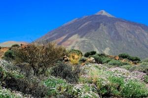 La cima del volcán del Teide, el pico más alto de España. Foto de Lazlo.