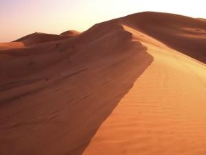 El desierto, sin duda el principal atractivo de Arabia. Foto de Mister Schnegge.