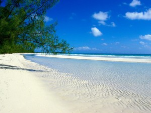 Playa paradisíaca de las Bahamas. Foto de Idee per viaggare.