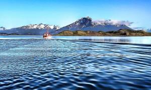 Fiordo Última Esperanza, en le estrecho de Magallanes. Foto de Karl Agre, M.D.