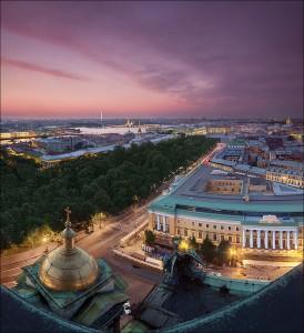 San Petersburgo iluminada. Foto de Egra.