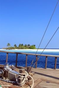Crucero en velero por los atolones de las Maldivas. Foto de Franck Foucaud.